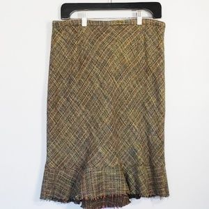 ELEVENSES Anthropologie tweed layered skirt